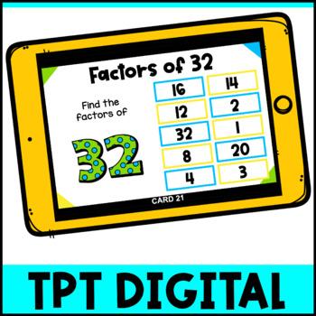 Factors Activity: Factors Pick, Flip Check Cards