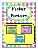 Factors Posters