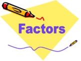 Factors Presentation -  explaing what is a factor
