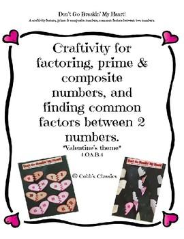 Factors, Prime & Composite Number, Common Factors