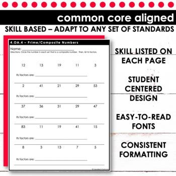 Factors/Prime & Composite Numbers   Fourth Grade Math 4.OA.4