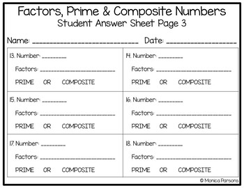 Factors, Prime and Composite Numbers Task Cards