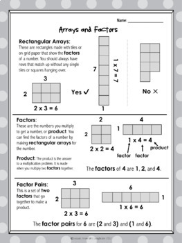 Prime , Composite and Square Numbers Study Guide and Exit Tickets