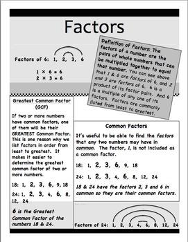 Factors & Prime Numbers