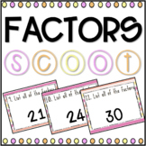 Factors SCOOT! Game, Task Cards or Assessment