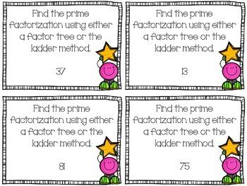 Factors Showdown (Prime and Composite, Prime Factorization, GCF, LCM)
