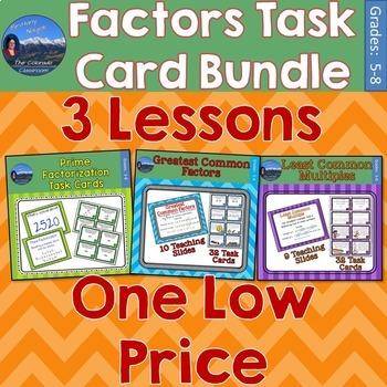 Factors Task Card Bundle