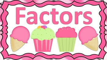 Factors Task Cards Sweets Themed
