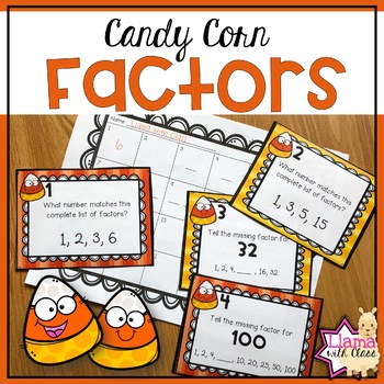 Factors Task Cards Halloween Themed