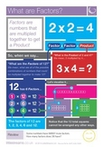 Factors | What are Factors? Skills Poster