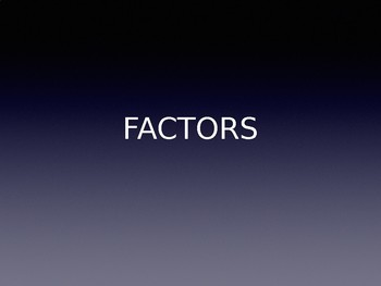 Factors- Which multiple has more?