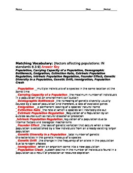 Factors affecting populations high ability vocabulary test with key