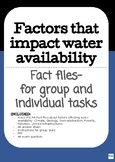 Factors affecting water availability / a task based lesson