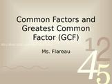 Factors and GCF