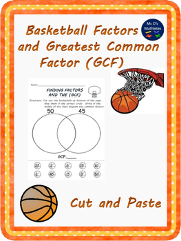 """Factors and Greatest Common Factor """"Cut and Paste"""""""