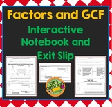 Factors and Greatest Common Factor (GCF)- Interactive Note