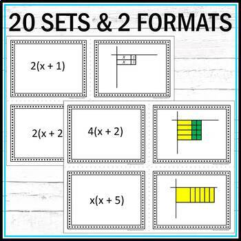 Factors and Models with Algebra Tiles Task Cards