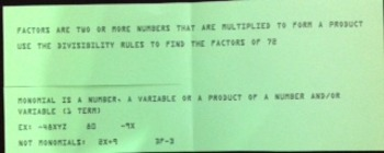 Factors and Monomials Foldable