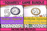 Factors and Multiples Games Bundle: 10 Factors Games + 12 Multiples Games