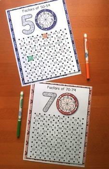 Factors and Multiples Games Bundle: 10 Factors Games + 12 Multiples Games