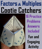 Factors and Multiples Activity 4th 5th 6th Grade
