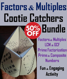 Factors and Multiples Games Bundle for 4th 5th 6th Grade
