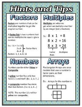 Factors and Multiples:  4th Grade CCSS 4.OA.B.4