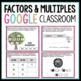 Factors and Multiples Digital Activities