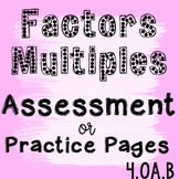 Factors and Multiples Assessment 4.OA.B.4
