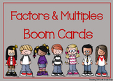 Factors and Multiples Boom Cards