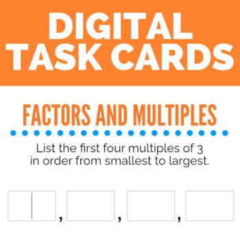 Factors and Multiples Boom Cards (digital task cards)