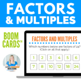 Factors and Multiples Digital Boom Cards™
