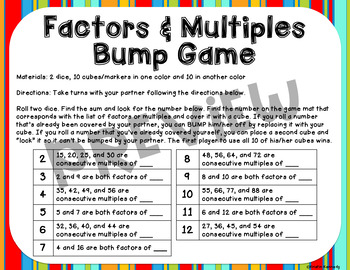 Factors and Multiples Bump