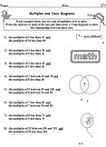 Factors and Multiples Bundle 12 Worksheets
