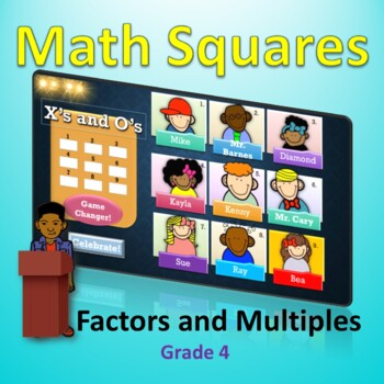 Factors and Multiples Celebrity Squares