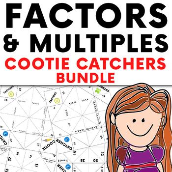 Factors and Multiples Cootie Catcher Activity Bundle - Factors, Primes, and LCM