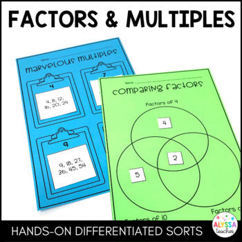 Factors and Multiples Differentiated Sorts