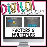 Factors and Multiples Digital Activities for Google Classroom