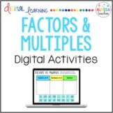 Factors and Multiples Digital Activities for Google Drive