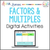 Factors and Multiples Digital Activities