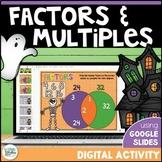 Factors and Multiples Digital Activity using Google Slides