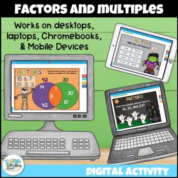 Factors and Multiples Digital Boom Cards