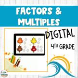 Factors and Multiples Practice Digital