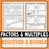 Factors and Multiples Discover & Doodle