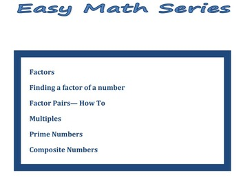 Factors and Multiples - Easy Math Series