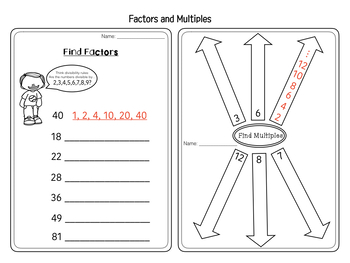 Factors and Multiples Easy, No-prep Practice