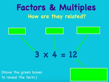 Factors and Multiples Flipchart