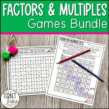 Factors and Multiples Games Bundle