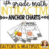 Factors and Multiples Interactive Anchor Charts with QR Codes