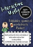 Factors and Multiples Interactive Notebook Packet Australian Curriculum
